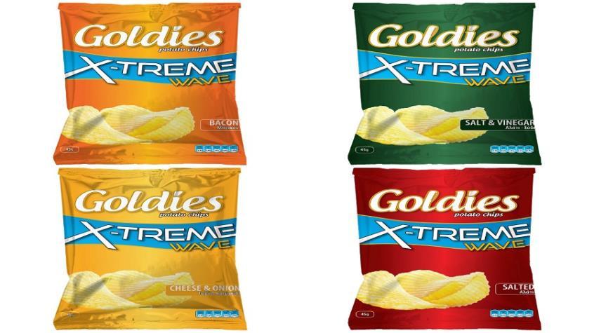 Κυπριακά Πατατάκια Goldies Extreme: Νέα συσκευασία, extreme γεύση!