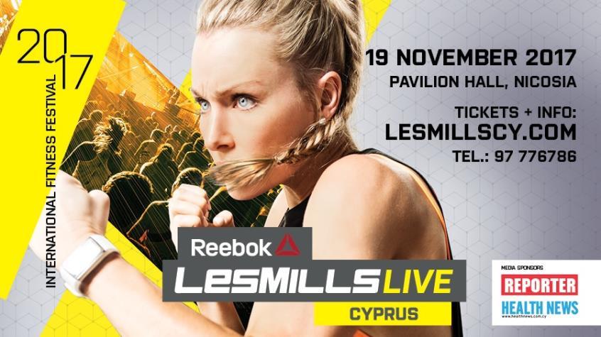 Les Mills Cyprus και ομαδική εκγύμναση στις 19 Νοεμβρίου